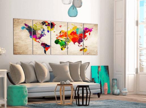 Artgeist Painted verdenskort