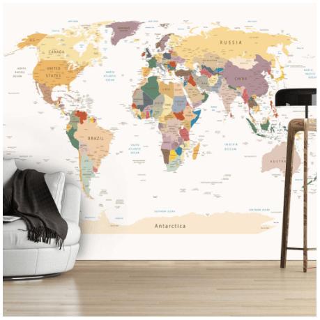 Artgeist fototapet verdenskort