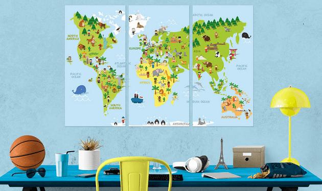 Childrens world ARTGEIST verdenskort
