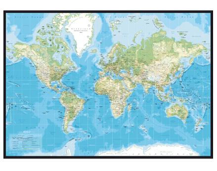 Incado Pinboard verdenskort klassisk