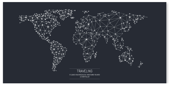 Traveling verdenskort Illux