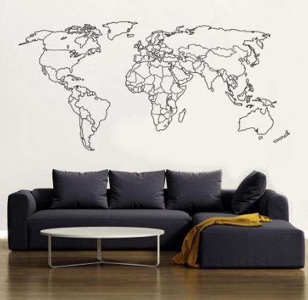 optegnet verdenskort