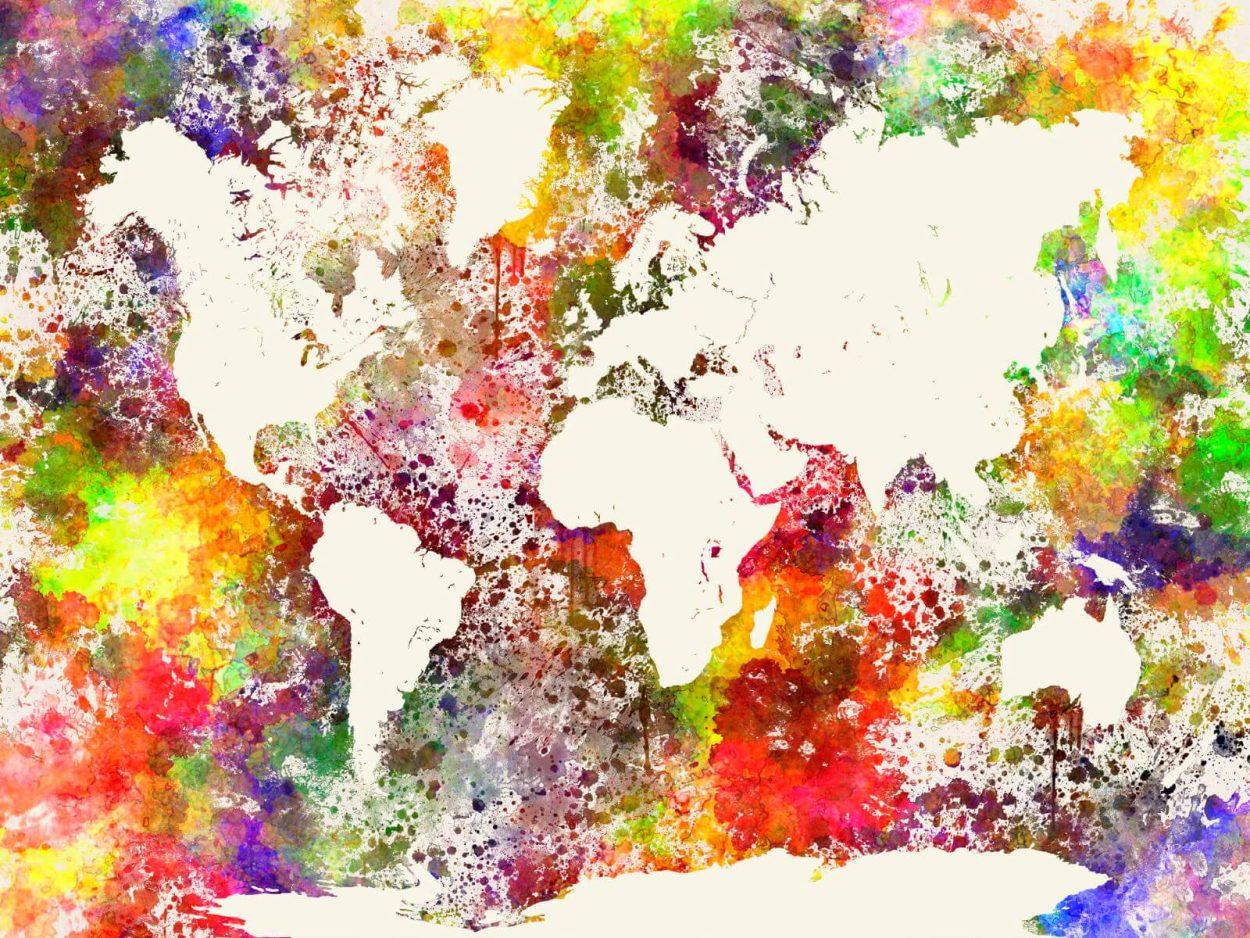 verdenskort til hjemmet
