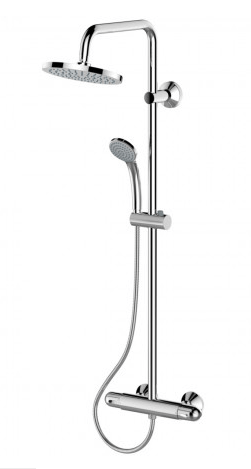 Børma Idealrain C25 komplet brusesystem med termostat og brusehoved