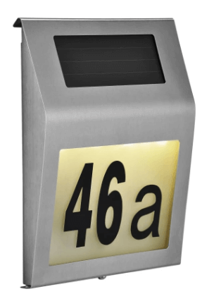 HI Soldrevet LED-belysning til husnumre