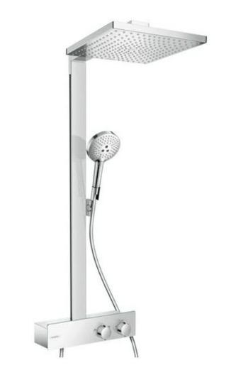Hansgrohe Raindance E komplet brusesystem med ShowerTablet 350 termostat brusehoved