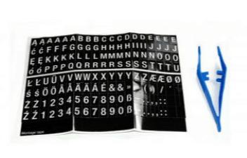 MEFA bogstaver og tal til postakke og husnummer