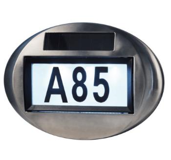 Veli Solcelle Væglampe med husnummer