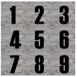 husnummer i sort