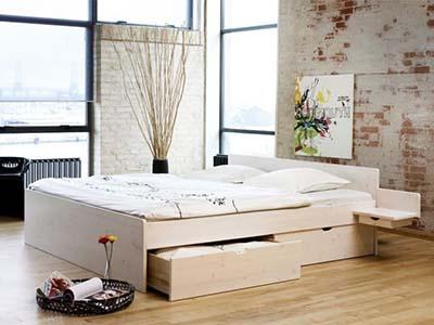 3: Messina Fyr Hvid seng med opbevaring