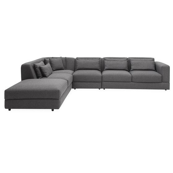 Barcelona sofa med pufafslutning