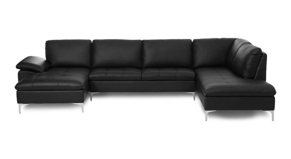 Montreal flyder sofa i ægte læder