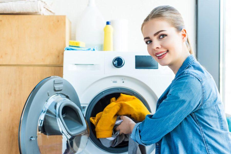 skab til vaskemaskine
