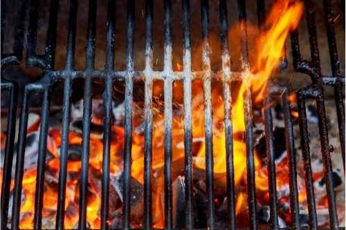 rengøring af grill med varme