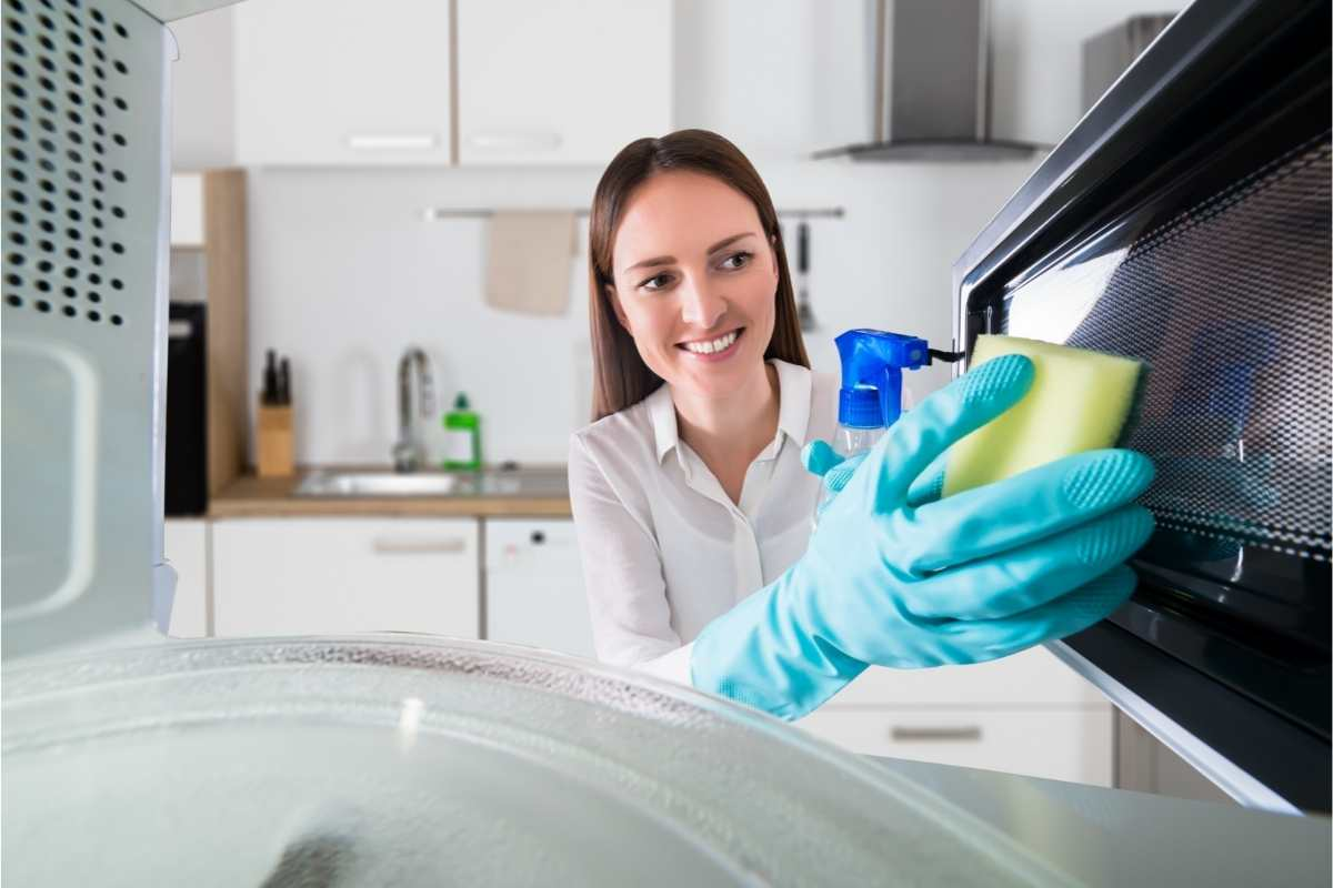 rengøring af mikroovn